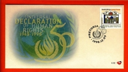 RSA, 1998, Mint First Day Cover Nr. 6-92, Human Rights,  SACCnr(s) - FDC