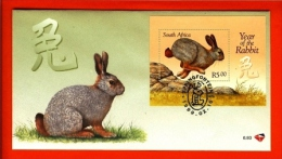 RSA, 1999, Mint First Day Cover Nr. 6-93, Year Of The Rabbit, Block 73,  SACCnr(s) - FDC