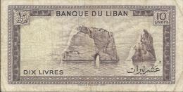 BANQUE DU LIBAN 10 LIVRES ETAT MOYEN - Liban
