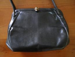 Sac à Main En Lézard Des Années 40 - Purses & Bags