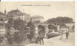 Sarremines   Pécheurs Sur La Sarre Et Le Pont Des Alliés - Sarreguemines