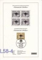 Germany ETB - FDC: 1991 Heimische Libellen  (L58-4) - FDC: Covers