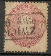 Timbres - Allemagne - Anciens Etats - Saxe - 1863 - 1  G. -