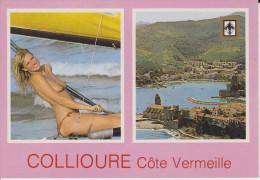 CPSM COLLIOURE 66 VUE PHARE PORT PIN UP AUX SEINS NUS - Collioure