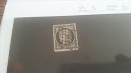 LOT 224132 TIMBRE DE FRANCE OBLITERE N�3 VALEUR 60 EUROS