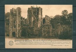 VILLERS: Facade De L'Eglise Et Logement Des Fréres Convers, Gelopen Postkaart 1919 (GA17386) - Villers-la-Ville