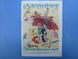 A LA SAMARITAINE, JOUETS, ETRENNES 1927, - Advertising