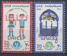 Egypte Mi.nr:372-373  22.Jahre Unicef 1968 Neuf Sans Charniére / MNH / Postfris - Ongebruikt
