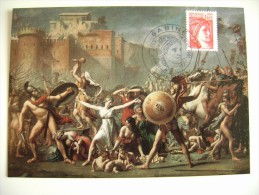 1981  DAVID  LOUIS  PARIS      FRANCIA   FRANCE  MAXIMUM  COVER PRIMO GIORNO PREMIER JOUR  FDC FIRST DAY - Malerei & Gemälde