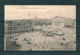 BRUXELLES: Gare Du Nord Et Place Rogier, Gelopen Postkaart 1920 (GA17900) - Spoorwegen, Stations