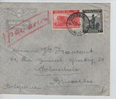 Belgisch Congo Belge Lettre Avion Costermansville 1947 V.Schaerbeek PR1175 - Congo Belge