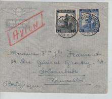Belgisch Congo Belge Lettre Avion Costermansville 1947 V.Schaerbeek PR1177 - Congo Belge