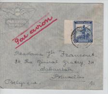 Belgisch Congo Belge Lettre Avion Costermansville 1947 V.Schaerbeek PR1178 - Congo Belge