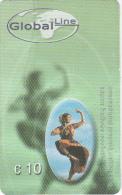 GREECE - Dancer, Global Line Prepaid Card 10 Euro, Used - Greece