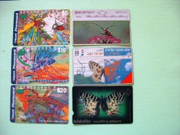 Phonecards Australia Israel Turkey Insects Longhorn Butterflies - Insects