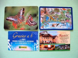 Calendars 2002-2014 Spain Czech Germany Stamps Butterflies Insects Music Bagpipes Horse Restaurant - Kalenders