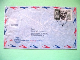 Israel 1963 Cover To Switzerland - Janusz Korczak Physician Writer Concentration Camps - Israël