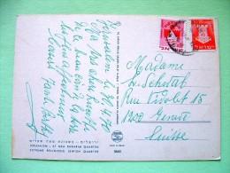 "Israel 1970 Postcard ""Jerusalem - Typical Costumes"" To Switzerland - Arms Elat - Bat Yam Ship - Brieven En Documenten"