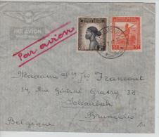 Belgisch Congo Belge Lettre Avion Costermansville 1947 V.Schaerbeek PR1182 - Congo Belge