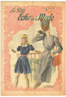 "3 Revues De Mode Anciennes 1945""Petit Echo De La Mode"" N°9-12;13-16;17-21 - Livres, BD, Revues"