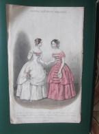 1852 Original Etching Log Young People Toilet Workshops In Paris Lingerie Fashion Corsets Gloves - Prints & Engravings