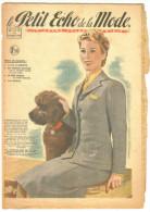 "7 Revues De Mode Anciennes 1942""Petit Echo De La Mode"" N°17-19;22-23;24-25;26-28;29-32;33-36;46-50 - Livres, BD, Revues"