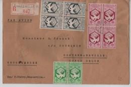 Congo Brazzaville Lettre Avion Recom.en 1943 Censurée V.Costermansville PR1187 - Covers & Documents