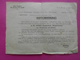 DER LANDRAT DES KREISES SAINT AVOLD LE 11 MARZ 1943 AUFFORDERUNG SPITTEL ADOLPHE HITLER STRASSE GOETTMANN LUCIEN - Documenti Storici