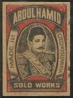 "INDIA MATCHBOX LABEL ""ABDUL HAMID"" MADE IN CZECHOSLOVAKIA - Boites D'allumettes - Etiquettes"