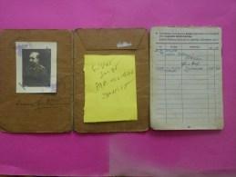 Rare 1943 Deutche Reich SOLDBUCH Livret Solde Papier Militaire Allemand Engagé  Force GOETTMANN L. Saint AVOLD L´hôpital - Historical Documents