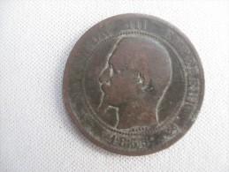 Vend Piéces De 10 Centimes 1855 B Napoléon III (état B) - France