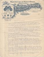 Lettre 1930 Manufacture De Pains D'Epices & Biscuiterie Etablissements Angenot Houpresse Damman Tourcoing 61 Rue De Sain - Alimentare