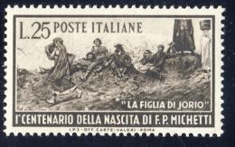100° Di Francesco Michetti - 1951 - 25 Lire Bruno (Sassone 671MG) LUSSO MNH** - 1946-60: Nuovi
