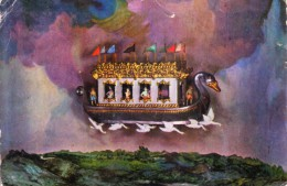 INDIA COLOUR PICTURE POST CARD - VICTORIOUS RAMA RETURNING TO AYODHYA IN FLYING CHARIOT, PUSHPAKA, NEHRU CHILDREN MUSEUM - India