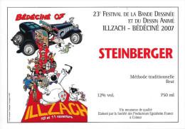 BEDECINE 2007 RODRIGUE Etiquette De Vin Du Festival De Bande Dessinée D´Illzach - Champagne