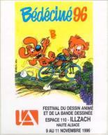 BEDECINE 1996 à ILLZACH Adhésif Autocollant De L´affiche Dessinée Par ROBA Avec BOULE Et BILL (2) - Stripsverhalen
