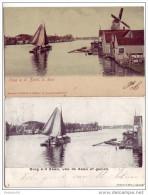 Koog An Den Zaan - Lot Of 2 Cards 1906 - Zaanstreek