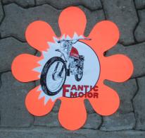 Fantic Motor Caballero Vetrofania 1972 Originale - Genuine Factory Fantic Motor Caballero Motorcycle Shop Window Sticker - Plaques Publicitaires