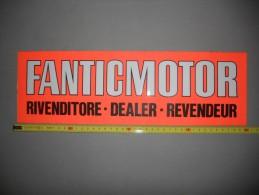 Fantic Motor Vetrofania Originale - Genuine Factory Fantic Motor Motorcycles Shop Window Sticker - Altri