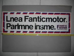 Fantic Motor Vetrofania Originale - Genuine Factory Fantic Motor Motorcycles Shop Window Sticker - Plaques Publicitaires