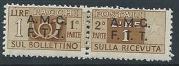 1947-48 TRIESTE A PACCHI POSTALI 1 LIRA MNH ** - ED905 - 7. Trieste