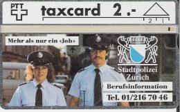 PTT: K-92/69A 204L Stadtpolizei Z�rich, Berufsinformation