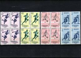 ESPAÑA  -1450/53 Juegos Atleticos Iberoamericanos  Bloque De Cuatro Según Foto - 1961-70 Nuevos & Fijasellos