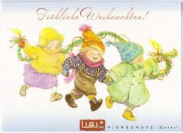 LISI MARTIN  * CHRISTMAS *  CHILDREN * HOLIDAY  + ENVELOPE - Illustrateurs & Photographes