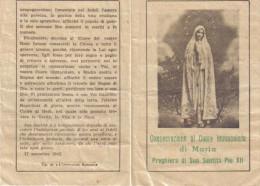 SANTINO CONSACRAZIONE CUORE IMMACOLATO DI MARIA - Images Religieuses