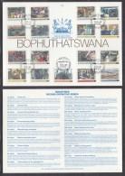 Bophuthatswana (South Africa): 1985, 2nd Definitive Series -industries - 1st Day Card, MMBATHO C.d.s - Bophuthatswana