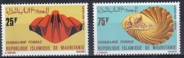 MAURITANIE MINERAUX, Fossiles Yvert N° 302/03 ** MNH, Neuf Sans Charniere - Minéraux