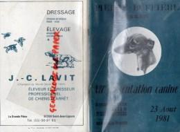 87 - PIERRE BUFFIERE - STADE MUNICIPAL-VIIE PRESENTATION CANINE 23 AOUT 1981- LAVIT SAINT JEAN LIGOURE- CHIEN - Limousin