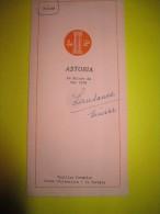 Carte Des Boissons Et Tarif/ Astoria/ La Maison Du Bon Café/ Lausanne / Suisse/ 1952    MENU47 - Menus