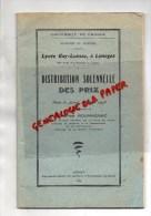 87 - LIMOGES- LYCEE GAY LUSSAC - DISTRIBUTION PRIX 30 JUIN 1958- CHARLES ROUMAGNAC - Limousin